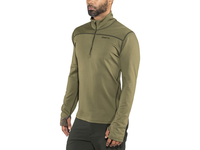 Craft Pin Half Zip Midlayer Herre dk olive/black